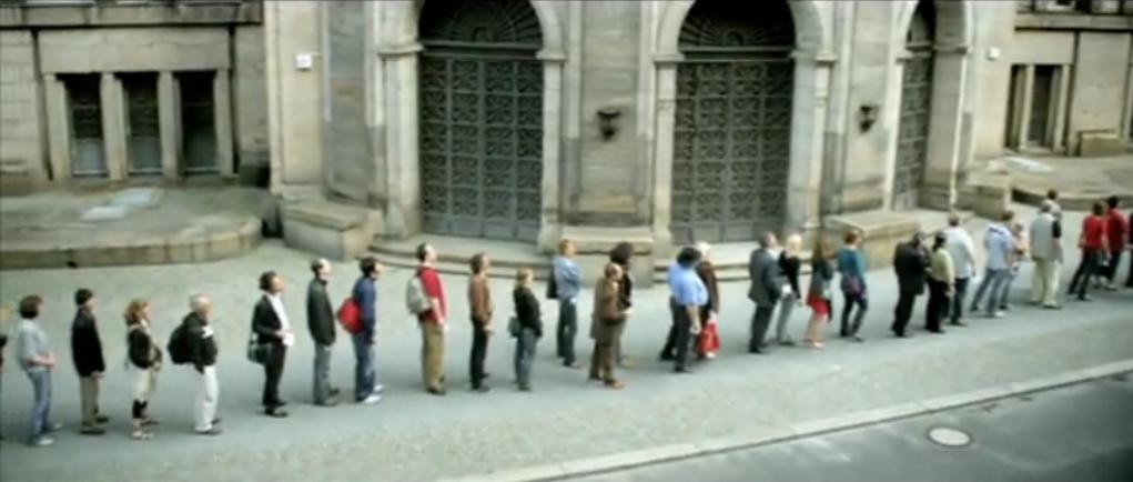 Flash3 Flashmob für den Mindestlohn