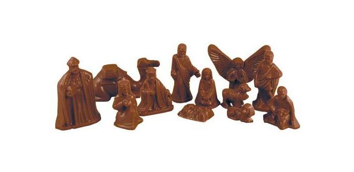 chocolate nativity scene Jesus Junk   Die Krippenkunde