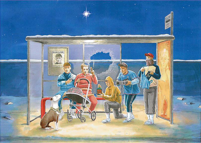 christmas nativity in tallaght nativity painting Jesus Junk   Die Krippenkunde