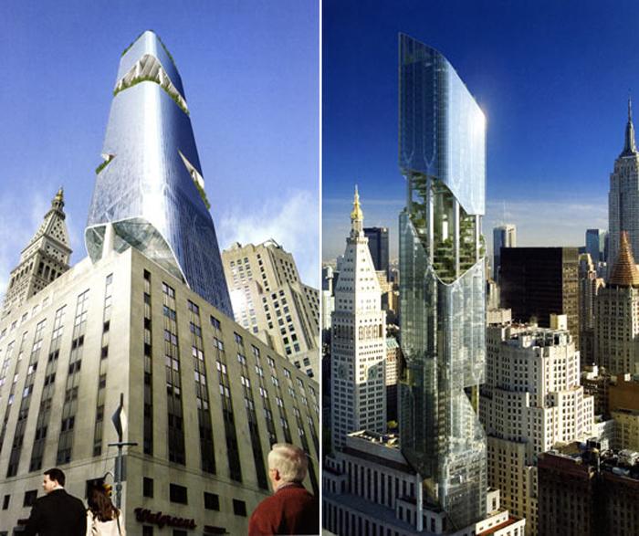 daniel liebeskind green new york tower  Alles im grünen Bereich