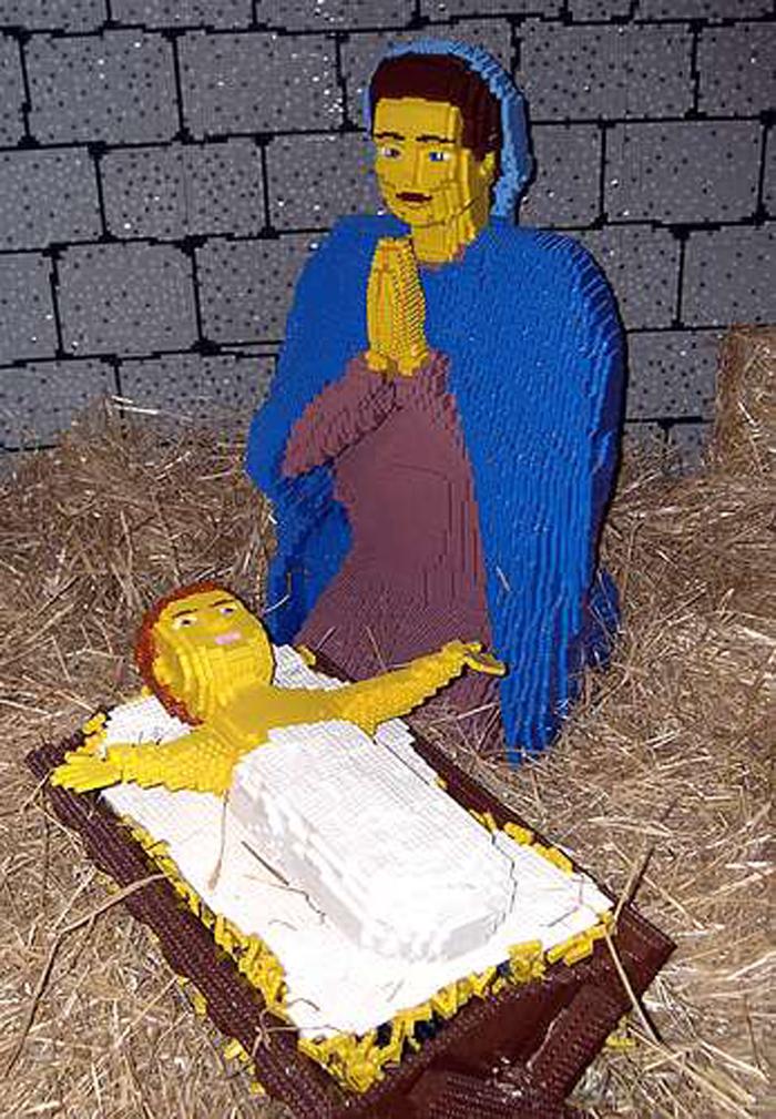 lego nativity2 Jesus Junk   Die Krippenkunde