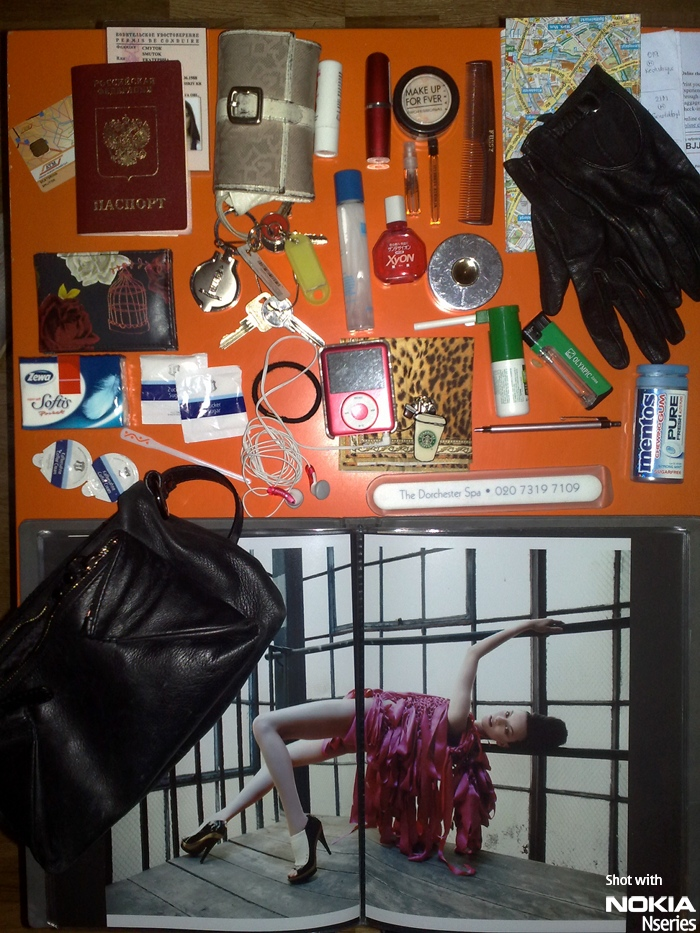 Whats Katerina Smutok Inhalt 161109 Whats in your bag, Katerina Smutok?