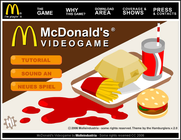 mc donalds game Anti Advergames
