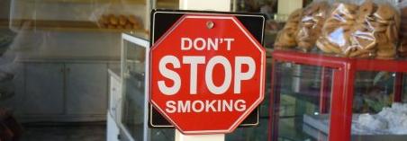 stopschild Rauch, nicht Neon