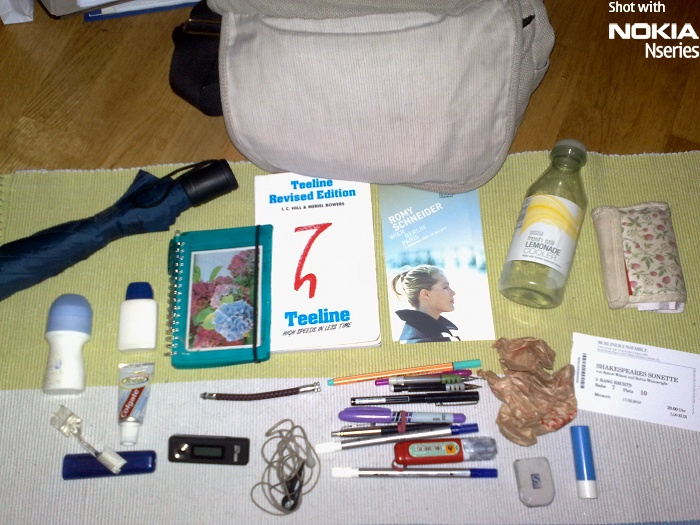 Whats Sabine inhalt 05FEB10 Whats in your bag, Sabine Schereck?