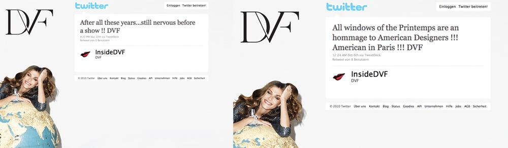 dvf Karl zwitschert, Stefano auch   Modemacher auf Twitter