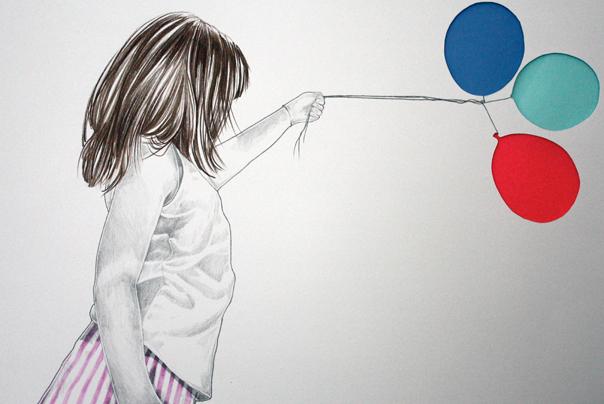 57 balloons site Wie gemalt.